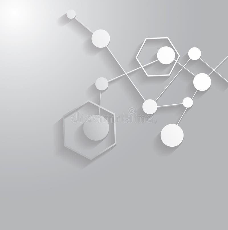 Molekuły struktura ilustracji