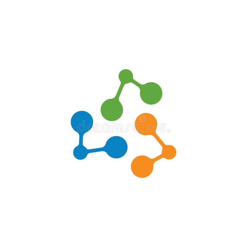 moleku?a logo ikony wektorowa ilustracja royalty ilustracja
