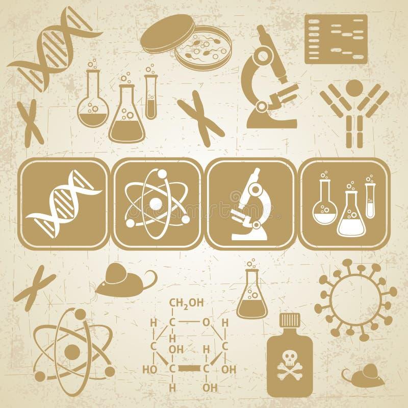 Molekularbiologiewissenschaftskarte lizenzfreie abbildung