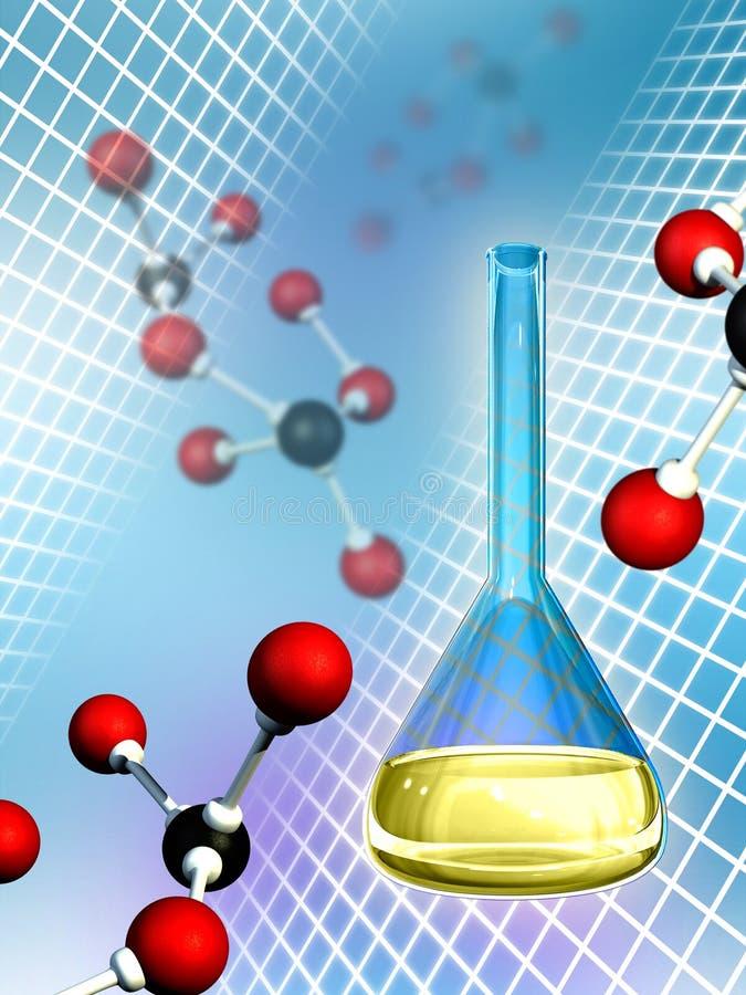Molekulare Chemie stock abbildung