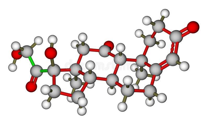 Molekulare Struktur des Cortisons lizenzfreie abbildung
