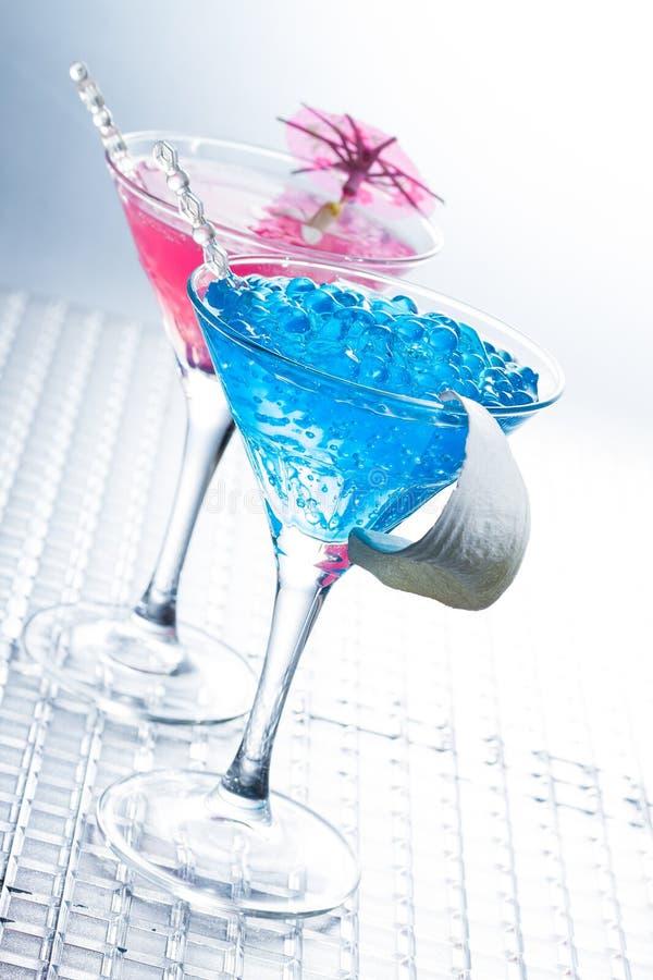 Molekularer Mixology - Cocktail mit Kaviar stockbilder
