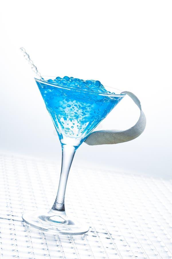Molekularer Mixology - Cocktail mit Kaviar stockfoto