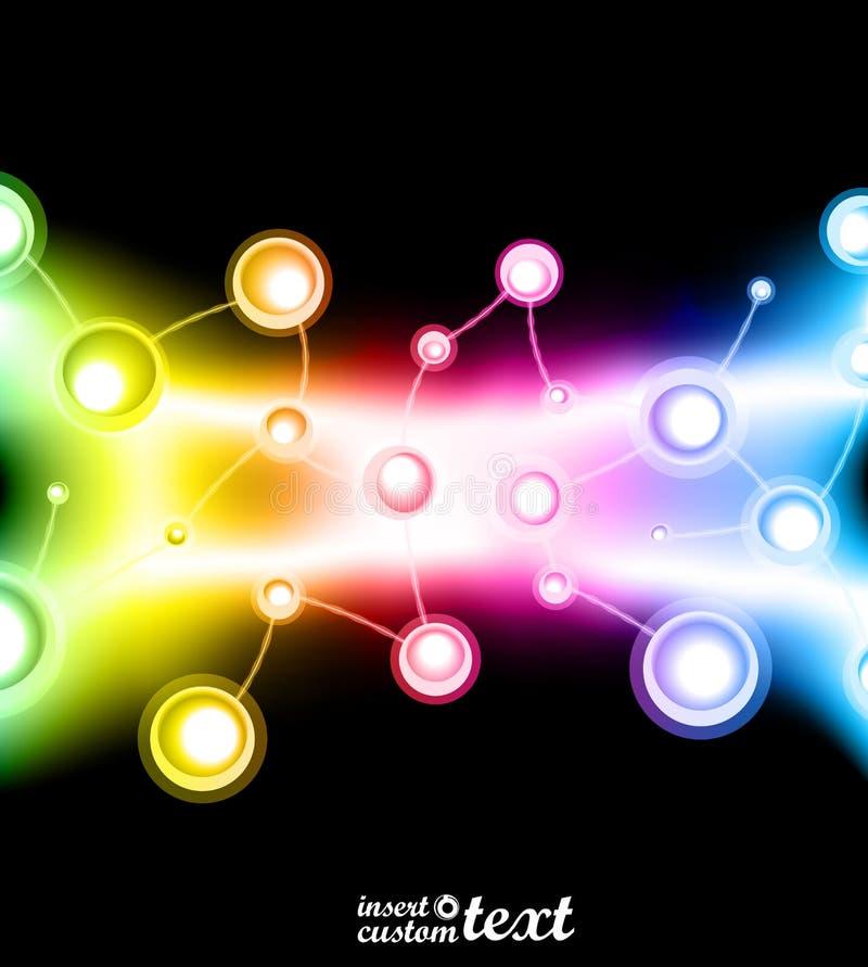 Molekylär Abstraktiondesign Royaltyfri Fotografi