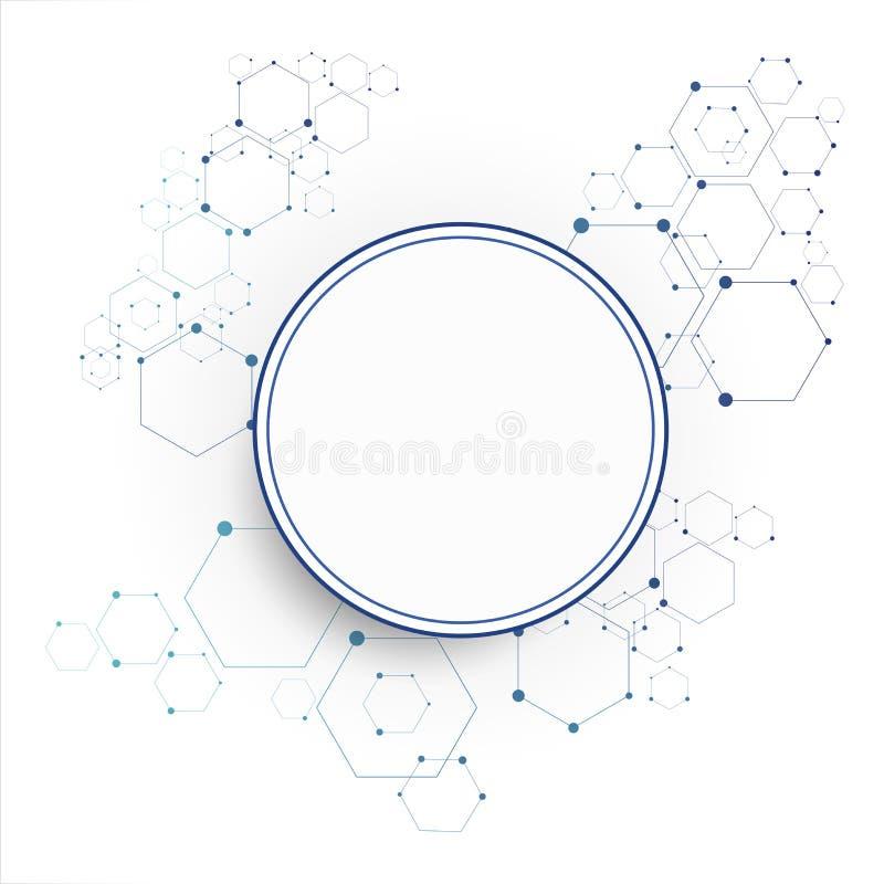 Molekylär anslutningsstruktur stock illustrationer