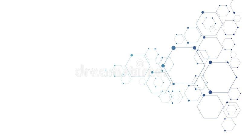 Molekylär anslutningsstruktur royaltyfri illustrationer