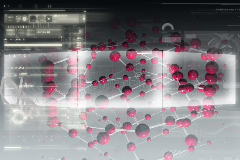 molekylär bakgrund vektor illustrationer