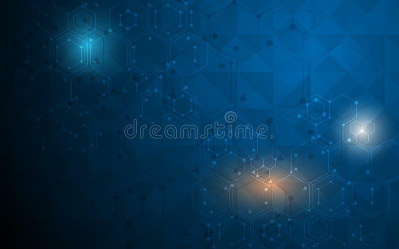 Molekylär designbakgrund för abstrakt vetenskap royaltyfri illustrationer