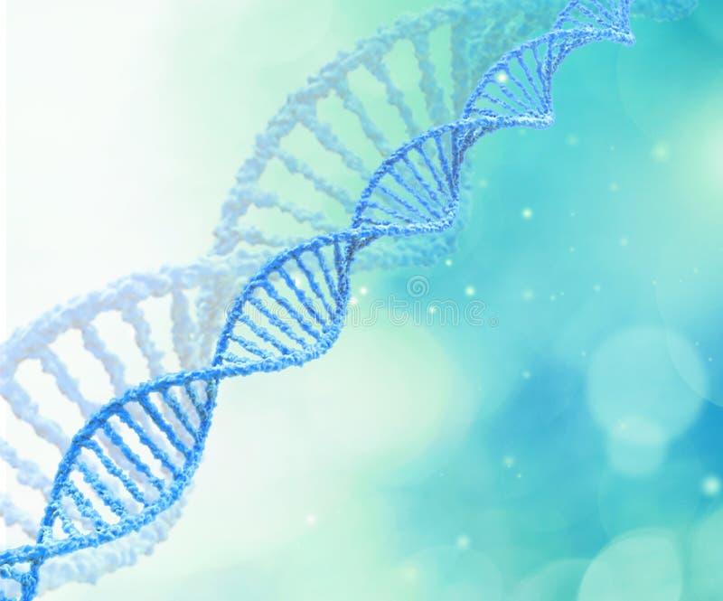 Molekylär DNAmodell Structure för vetenskap på suddigt royaltyfri illustrationer