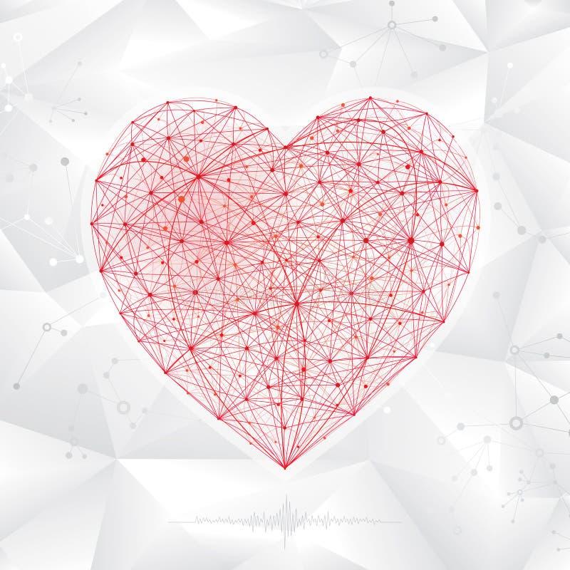 Molekylär hjärta Shape stock illustrationer