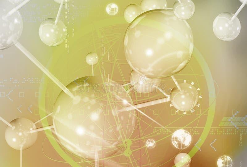 molekylär struktur vektor illustrationer