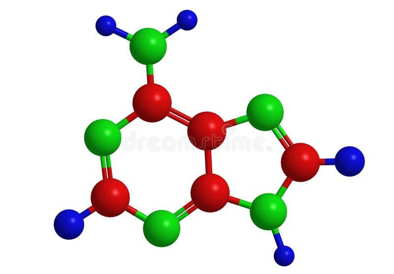 Molekylär struktur av adenine vektor illustrationer