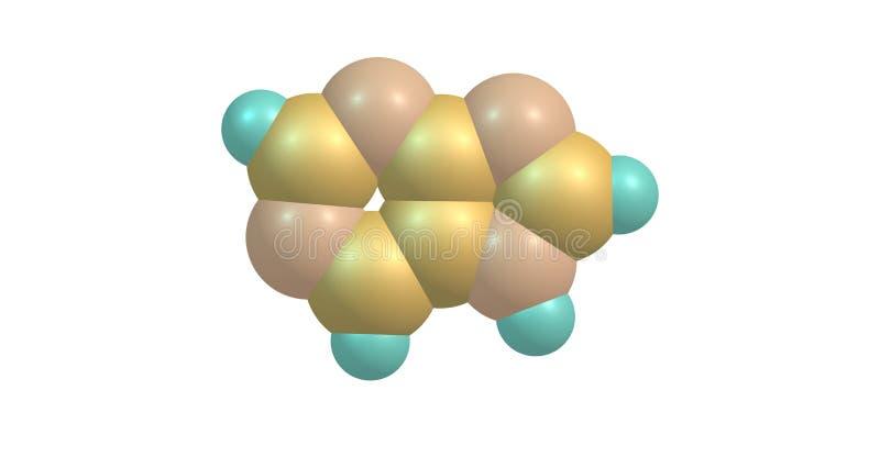 Molekylär struktur för Purine som isoleras på vit royaltyfri illustrationer