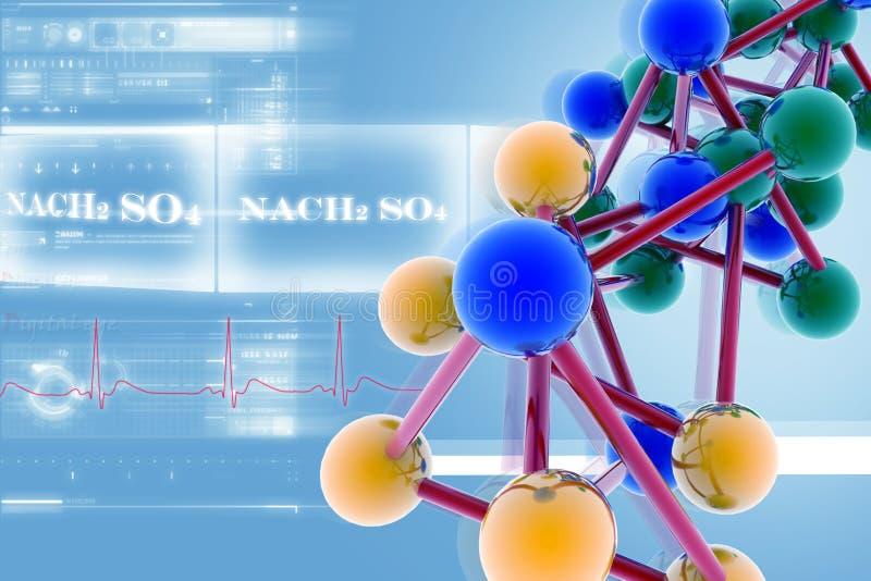 molekyl royaltyfri illustrationer