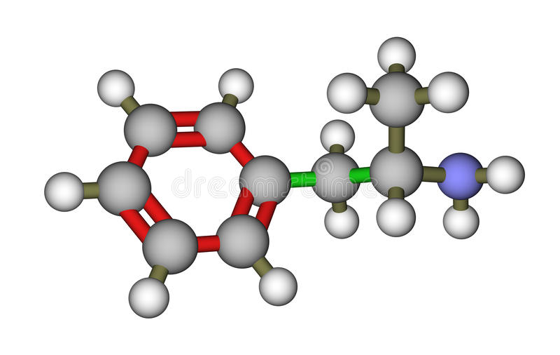 molekylär struktur för amphetamine vektor illustrationer