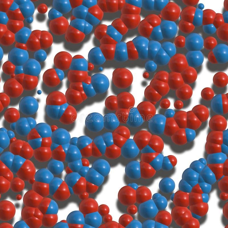 molekyl för atomsbakgrundskemi vektor illustrationer