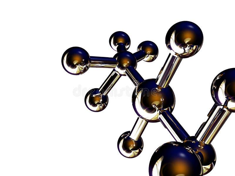molekylar royaltyfri illustrationer