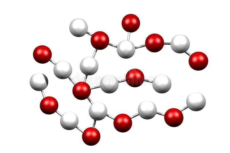 molekylar vektor illustrationer