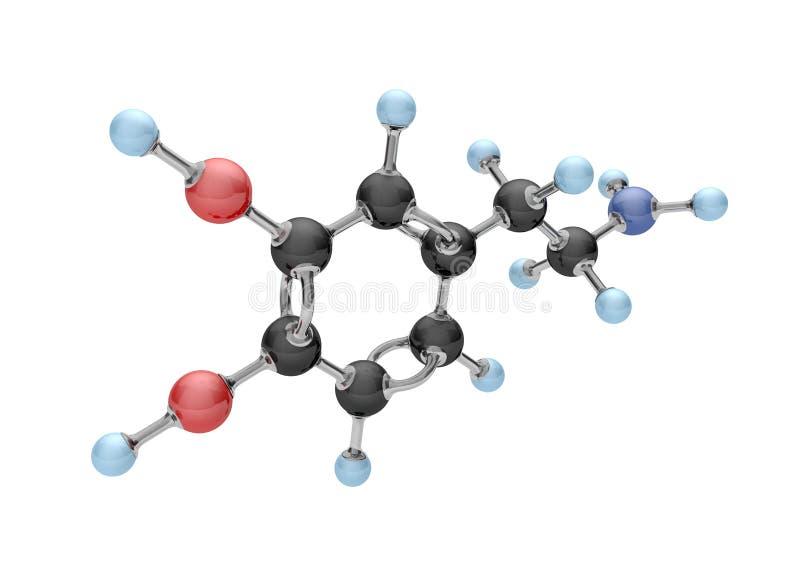 MolekylDopamine royaltyfri illustrationer
