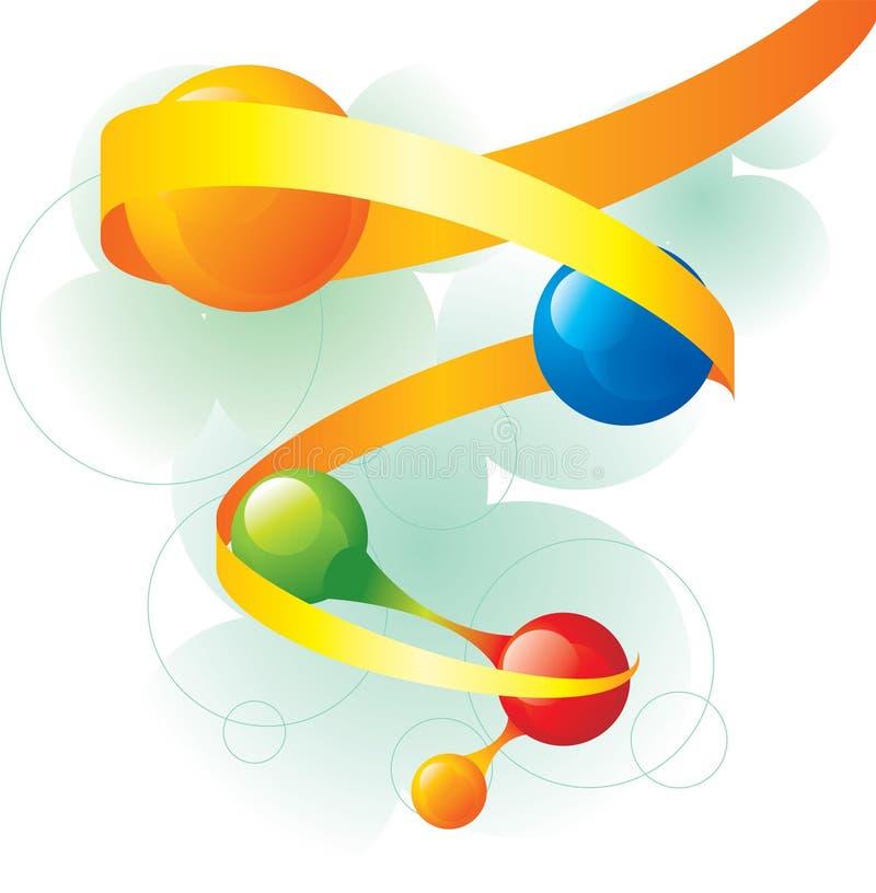 molekylspiral stock illustrationer