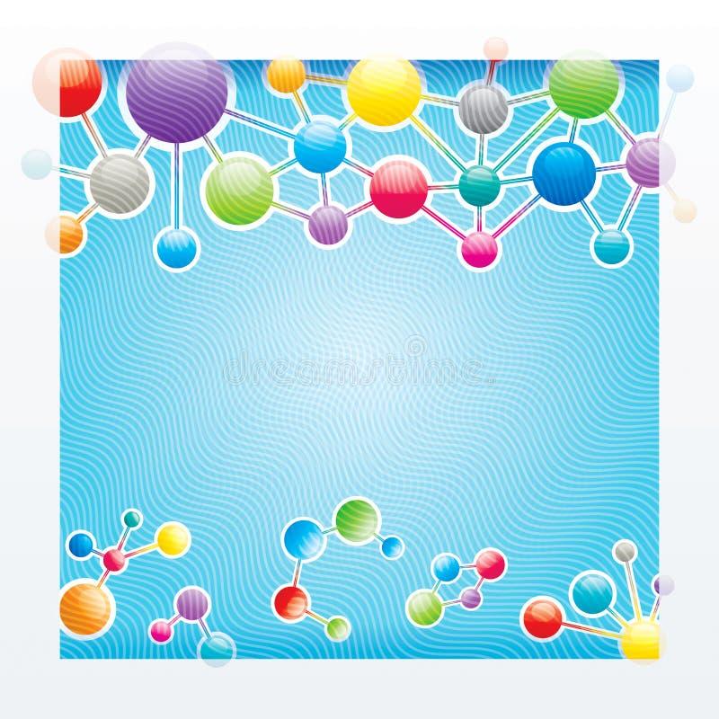 Molekylstruktur royaltyfri illustrationer