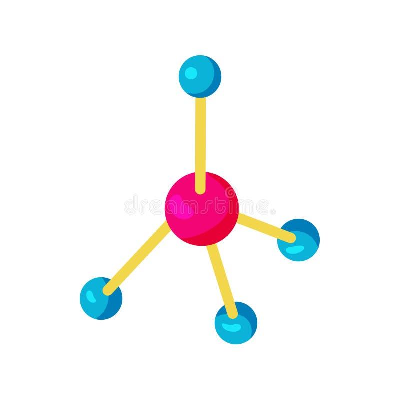 Molekylsymbol i tecknad filmstil stock illustrationer