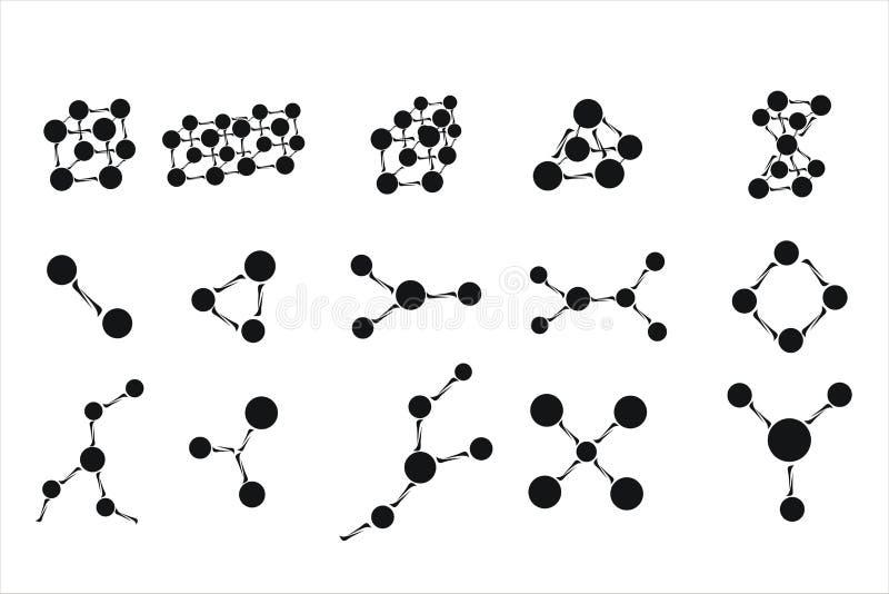 Molekylsymboler vektor illustrationer