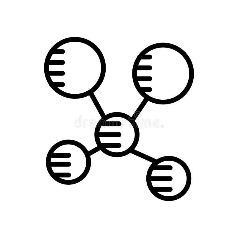 Molekylsymbolsvektor som isoleras på vit bakgrund, molekyltecken vektor illustrationer