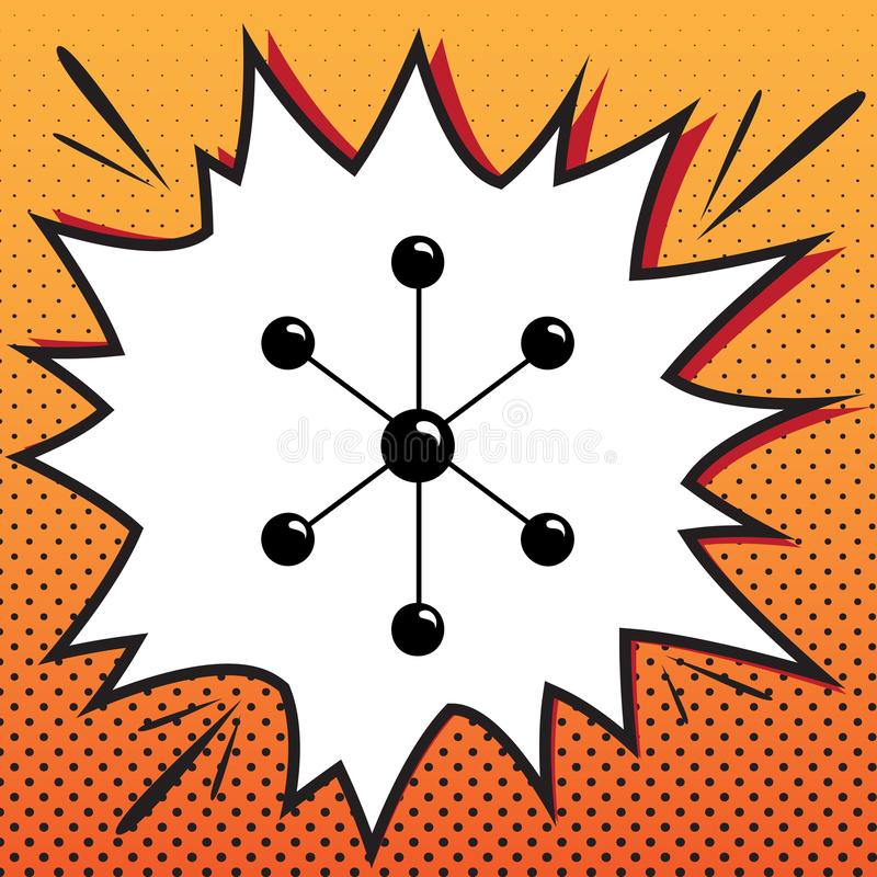 Molekylteckenillustration vektor Komikerstilsymbol på pop-konst vektor illustrationer