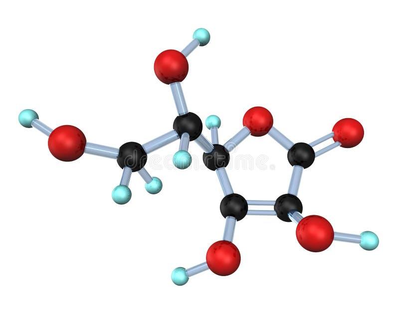 molekylvitamin för 3d c stock illustrationer