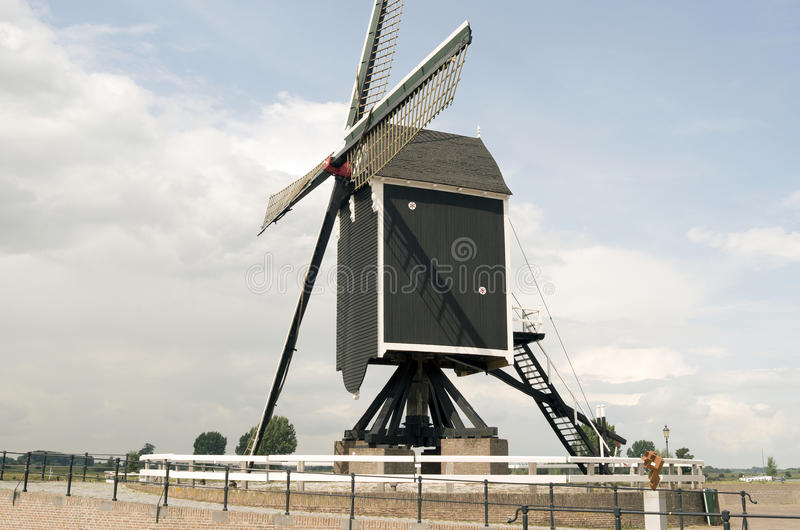 Molen in Heusden stock foto's