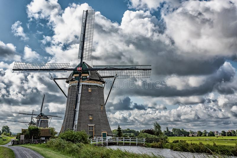 Molendriegang Leidschendam in HDR stock images