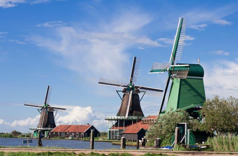 Molens in Holland royalty-vrije stock fotografie