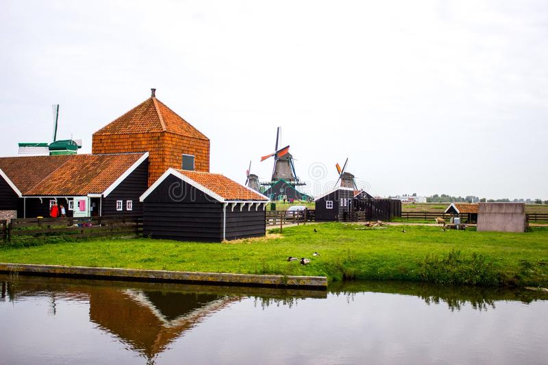 Molens in Zaandam royalty-vrije stock foto
