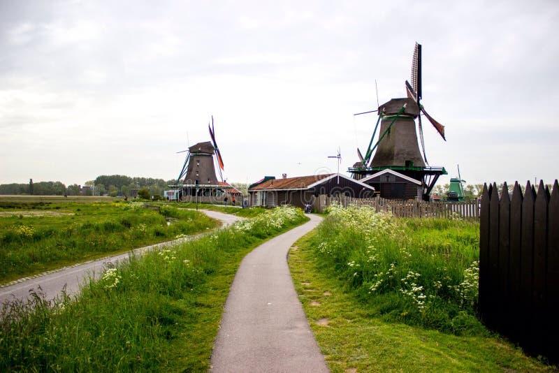 Molens in Zaandam royalty-vrije stock fotografie