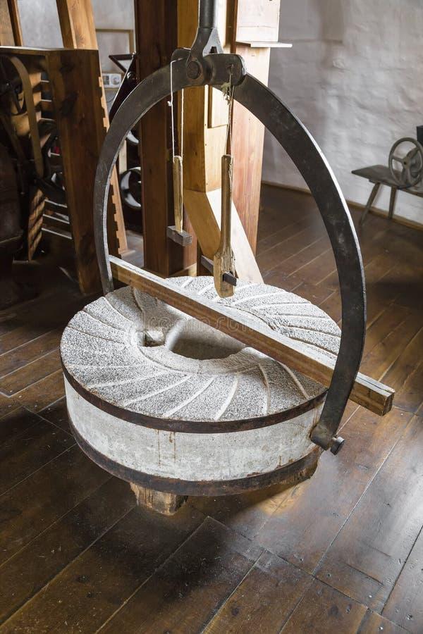 Molenstenen van molens stock afbeeldingen