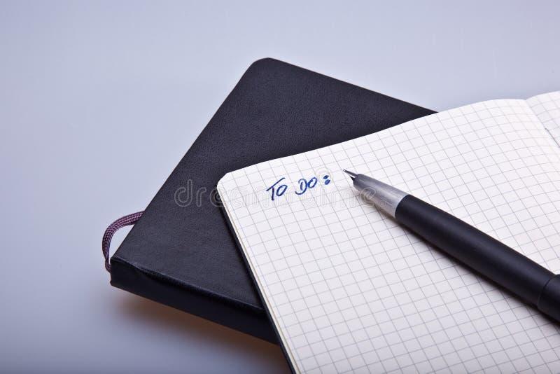moleskine笔记本 免版税图库摄影