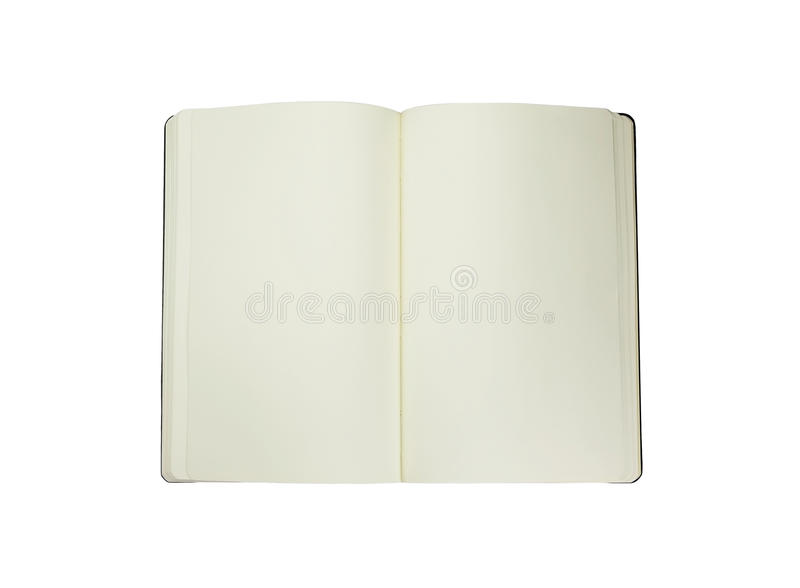 Moleskine en un fondo blanco imagenes de archivo