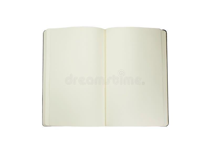Moleskine on a white background stock images