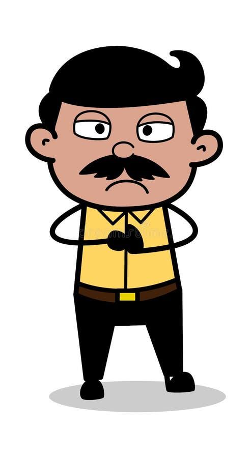 Molestado - padre indio Vector Illustration del hombre de la historieta libre illustration