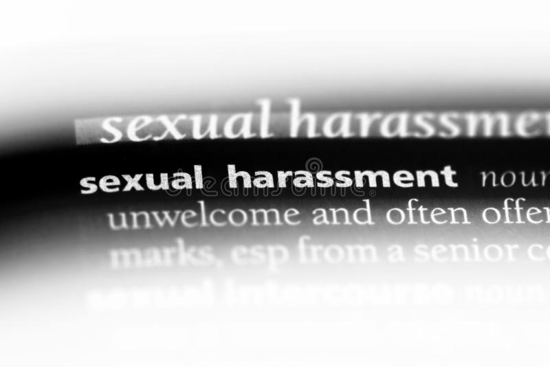 Molestia sessuale immagini stock libere da diritti