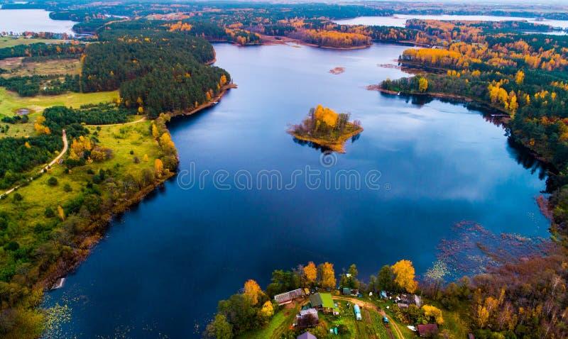 Moletai jeziora obraz royalty free