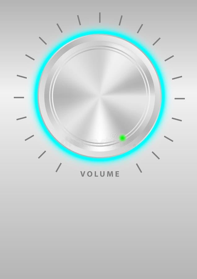 Molette de volume illustration de vecteur