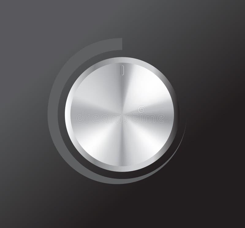 Molette de volume de vecteur illustration de vecteur