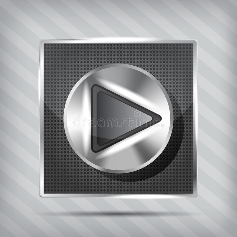 Molette métallique avec le graphisme de pièce illustration de vecteur