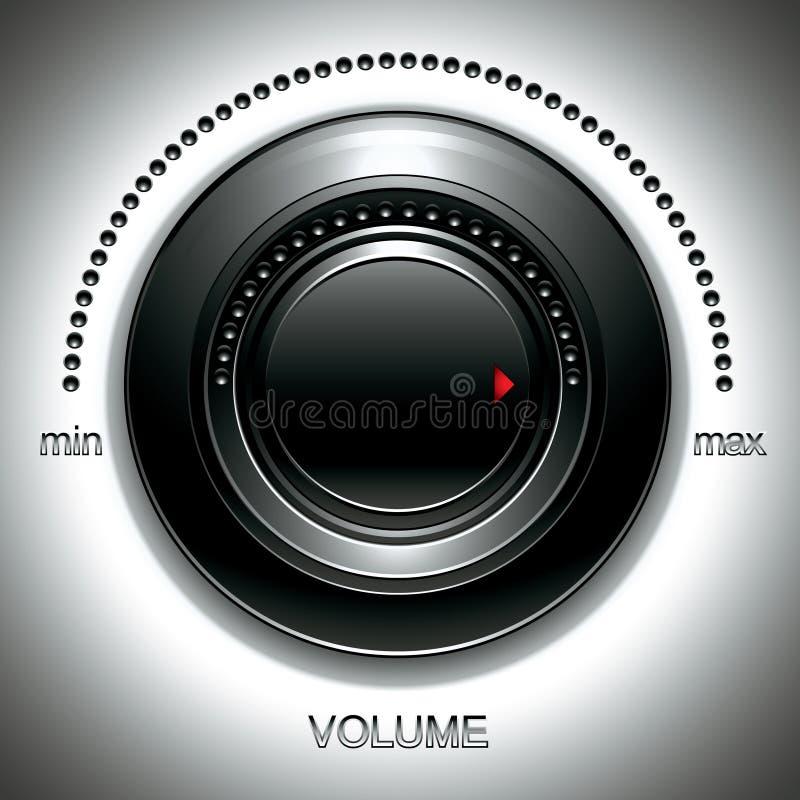 Molette noire de volume. illustration libre de droits
