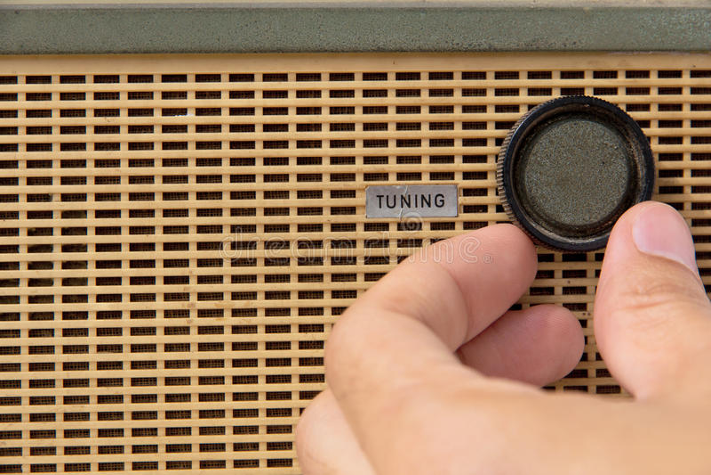 Molette par radio de ajustement image libre de droits