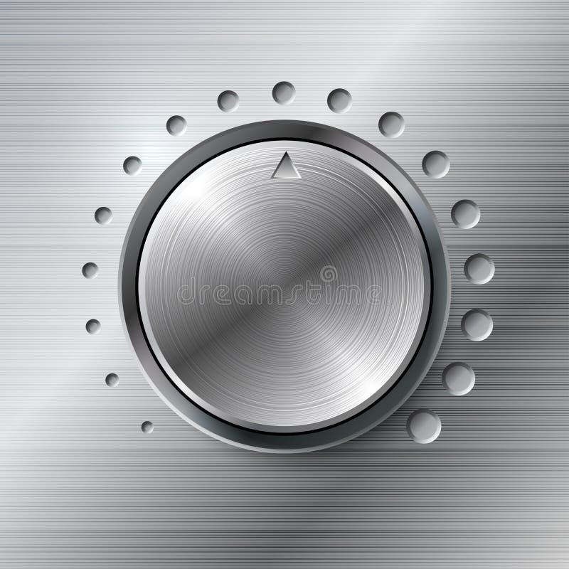 Molette tournante de volume métallique. illustration stock