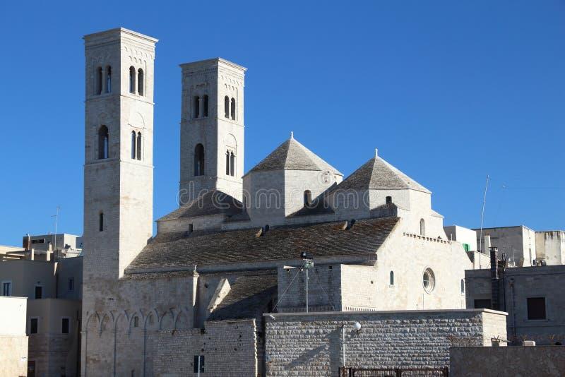 Molfetta, Italy. Molfetta town in Apulia, Italy. Cathedral of Saint Conrad of Bavaria. Apulian Romanesque style royalty free stock photography