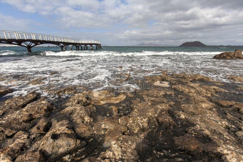Molhe ao oceano fotografia de stock